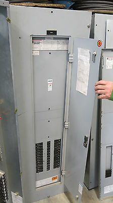 Cutler Hammer Prl3a Panelboard 200a Main Lug 277480v Asco Rc Switch -e1351