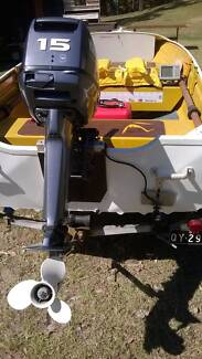Quintrex 12ft Tinny with NEW 15hp Yamaha motor Samford Village Brisbane North West Preview