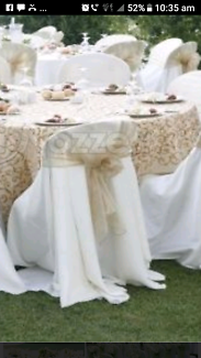 Black and White Chair Covers  . Weddings or events