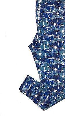 Blue Swedish Fish (Lularoe LEGGINGS Blue White Swedish Fish Tall And Curvy Tc)