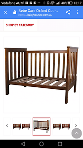 Bebe care baby cot-solid timber, walnut Gordon Ku-ring-gai Area Preview