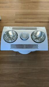 Clipsal 6600ADS Bathroom Vent Fan & Heat Lamp   Ceiling ...