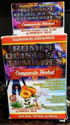Rompe Quistes & Tumores B17 100%Natural (Reforzado con Ajo & Omega 3,6,9)