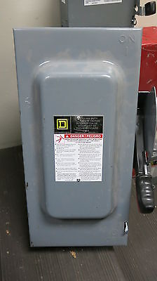 Square D Hu362 60 Amp 600 Volt 3 Phase Disconnect F Series New