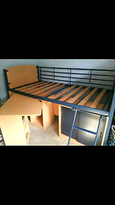 Single bed with built in cupboards and desk. Nabiac Great Lakes Area Preview