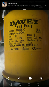 Davey sump water pump-$60 - LIDCOMBE Lidcombe Auburn Area Preview