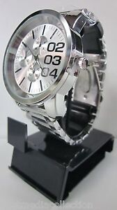 ONYK Men's WATCH Stainless Steel Fashion QUARTZ  White Dial Black #'s BRAND NEW