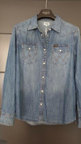 Chemise en jeans wrangler taille l neuf avec étiquette idée cadeau