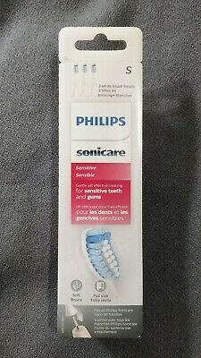 Philips Sonicare Sensitive Ultra Soft Brush Heads [3-Pack] HX6053/64 *Genuine*