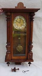 French Art Nouveau Jugenstill Wall Regulator Clock Japy Freres Paris Chime