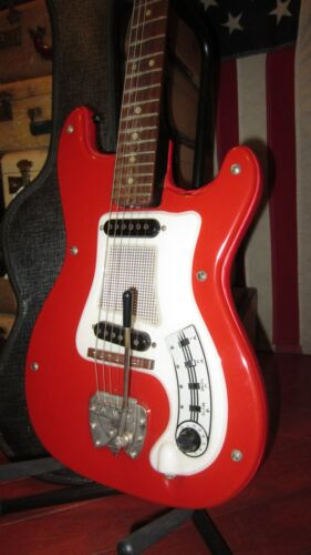 Vintage 1964 Hagstrom I Double Pickup Electric Guitar Red Original Case Cool Red