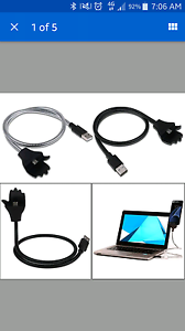 Flexible charger cable wire cord stand Iphone Android Palmyra Melville Area Preview