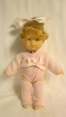 """COROLLE 8"""" TODDLER DOLL, BALLET DANCER IN PINK, EXCELLENT CONDITION"""