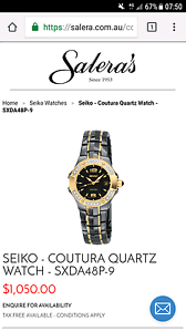 SEIKO - COUTURA QUARTZ WATCH Cleveland Redland Area Preview
