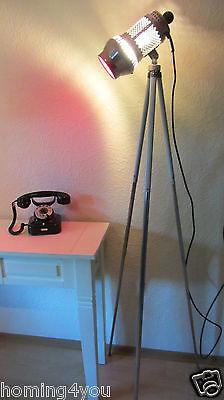 VEB GRANDIOSA 8122 Radebeul Tripod Lampe Stehlampe Stativ  Bauhaus Farbfilter