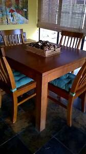 Solid Tasmanian Oak Dining Table / Chairs North Brighton Holdfast Bay Preview