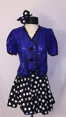 3 pc Dance Costume Sm Adult Skirt-Top-Mini Top Hat