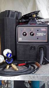 Lincoln Power MIG 180C Welder / Magnum 100 SG Spool Gun Aberfoyle Park Morphett Vale Area Preview