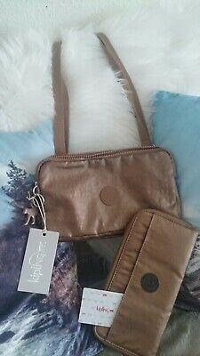 Kipling Set Bronze Metallic Tasche+geldborse