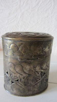 antike Potpourri Zigaretten Dose Deckeldose Silber Silberdose Sticher Dose