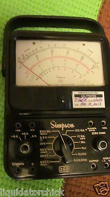Electrical Meter Test Simpson Simpson Series 6  260 Volt Ohm