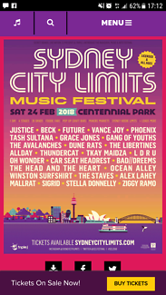 WANTED: 2X SYDNEY CITY LIMITS TICKETS $260