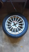 4 stud alloy wheel mag with tyre 205 50 r16 pcd 4x100 Cairns Cairns City Preview