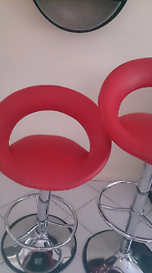 Red bar stools chairs one pair Perth Perth City Area Preview