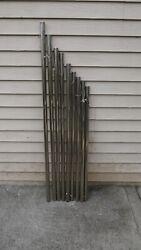 antique set of 9 Nickle chrome tubular chime grandfather clock tubes
