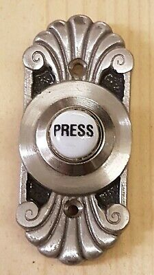 Art Deco style Brushed Nickel Door Bell press