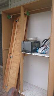 Chipboard cupboard/wardrobe with louvre doors  Mortdale Hurstville Area Preview