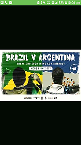 Brazil vs argentina tickets×5 must sell Noble Park Greater Dandenong Preview
