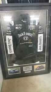 Jack Daniels / Rick Kelly / Todd Kelly framed Signed Racing suit Nowra Nowra-Bomaderry Preview