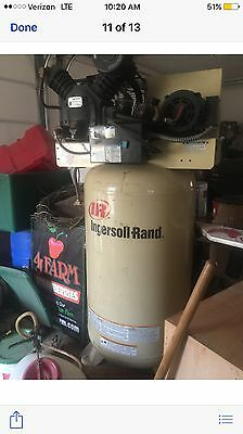 Ingersoll-rand Model 2475 N7.5 -230-3fp Air Compressor 80 Gal Industrial
