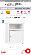 White bedside tables pair Lutwyche Brisbane North East Preview