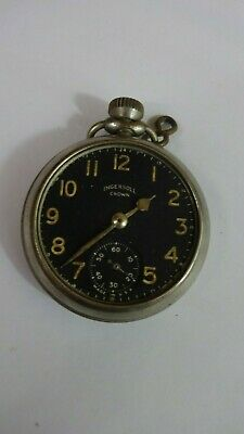 Vintage ingersoll crown mechanic pocket watch Made in USA for repairs di