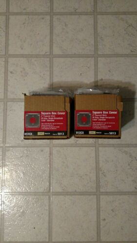 """Lot (20) Of Raco - Hubbell 4"""" Square Box Covers - 812cx"""