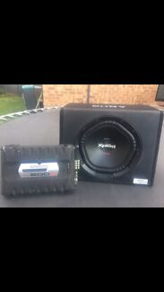 I have a Sony xplod 12 inch sub 1800w and a kenwood amp 500w  South Penrith Penrith Area Preview