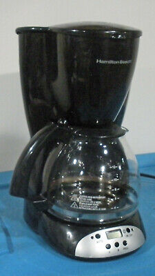 Hamilton Beach Filter Coffee Maker 12 Cup Programmable Chrome Black Model Digital Filter Coffee Maker