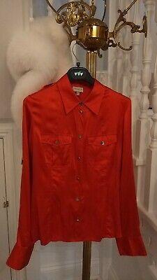 Karen millen Silk Orange Blouse Size 12
