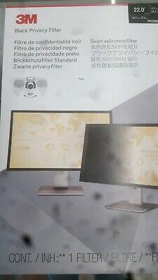 "3M Black Privacy Filter  22"" Screen"