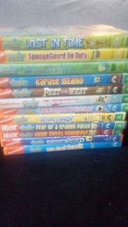12 Spongebob DVDs