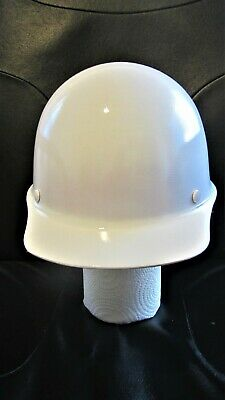 Msa White Skullgard Hard Ha -medium -excellent Condition Adjustable Headband
