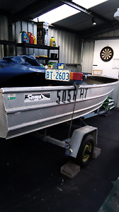 12ft Aluminum boat & trailer Bridgewater Brighton Area Preview