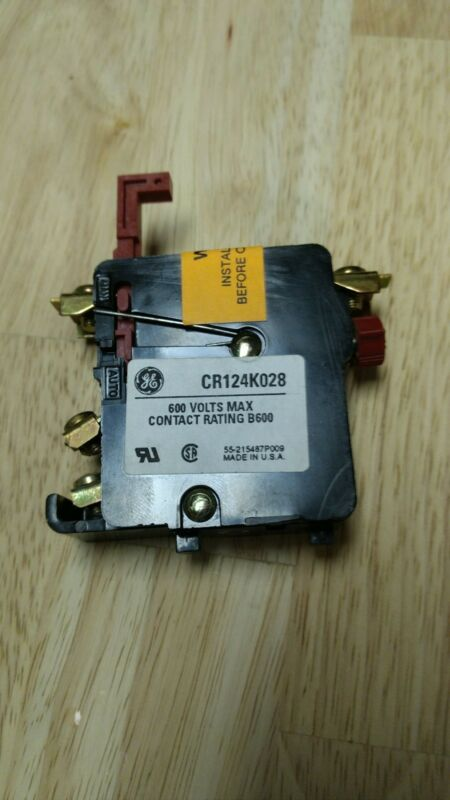 General Electric CR124K028 Thermal Overload Relay, New Surplus
