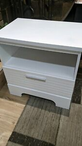 White bedside tables x2