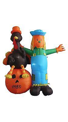 Thanksgiving Inflatable Yard Party Air Blown Decoration Scarecrow Turkey Pumpkin