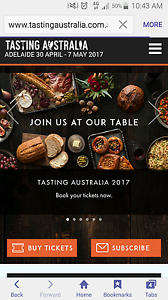 4x Tickets to Tasting Australia Fizzology Friday 5th May Andrews Farm Playford Area Preview