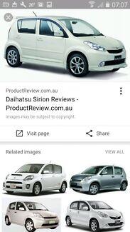 daihatsu sirion car for sale white color.