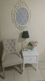 Hamptons bedside table, or hall lamp side occasional table